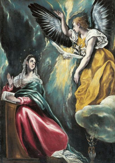 Greco, El (Domenico Theotocopuli): The Annunciation. Fine Art Print/Poster. Sizes: A4/A3/A2/A1 (002043)